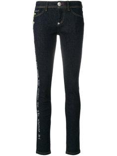 джинсы с вышитыми розами Philipp Plein