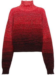 вязаный свитер с высоким воротником с градуированным эффектом Helmut Lang