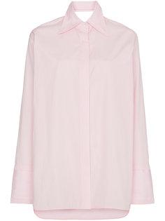 классическая поплиновая рубашка с вырезом на спине Helmut Lang