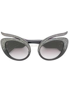 солнцезащитные очки с кристаллами Swarovski Miu Miu Eyewear