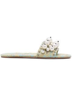 декорирвоанные сандалии Cloquet Miu Miu