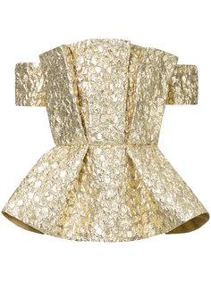 блузка с баской с металлическим отблеском  Bambah