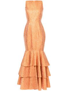 платье с подолом с рюшами Bambah