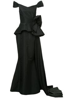 платье с баской и цветочным принтом  Bambah