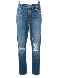 укороченные джинсы с потертой отделкой  Mother