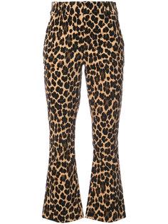 расклешенные брюки с гепардовым принтом  Frame Denim