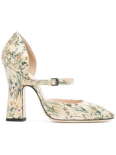 туфли с цветочным принтом Bottega Veneta