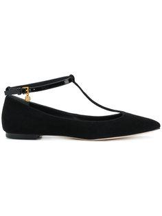 туфли на плоской подошве Ashton с T-образным ремешком Tory Burch
