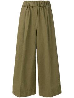 широкие укороченные брюки Forte Forte