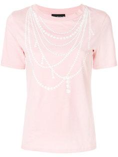 футболка с перламутровыми бусинами Boutique Moschino