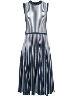 плиссированное расклешенное платье  Jason Wu