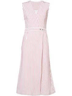платье в полоску с V-образным вырезом  Jason Wu