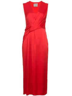 платье с запахом и V-образным вырезом  Jason Wu