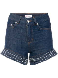 джинсовые шорты с завышенной талией  Red Valentino