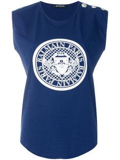футболка с графическим принтом  Balmain