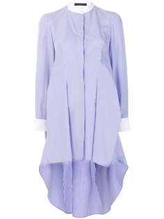 полосатое платье-рубашка  Alexander McQueen