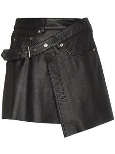 Mini Wrap Leather Skirt Ksubi