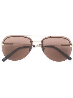 солнцезащитные очки-авиаторы с затемненными линзами Bulgari