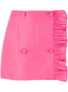 асимметричная мини-юбка с оборкой MSGM