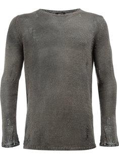 вязаный свитер с эффектом потертости Avant Toi