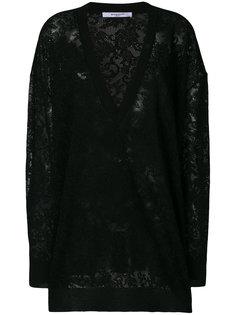 свитер с цветочным вышитым узором Givenchy