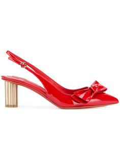 лакированные туфли с бантом Salvatore Ferragamo