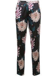 прямые брюки с цветочным принтом  Fleur Du Mal