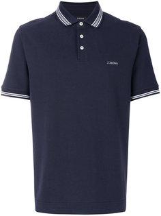 футболка-поло с полосатой окантовкой Z Zegna