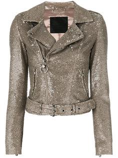 байкерская куртка с блестящей отделкой Philipp Plein