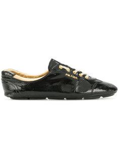 кроссовки на шнуровке с логотипом Prada Vintage