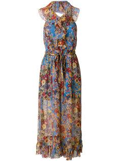 длинное платье с цветочным принтом Zimmermann