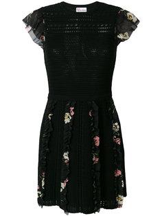 платье с оборками с цветочным принтом Red Valentino