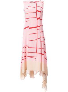 платье без рукавов с узором  Akris