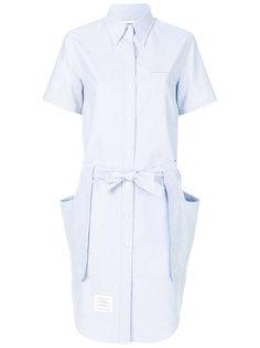платье-рубашка с завязками на поясе Thom Browne