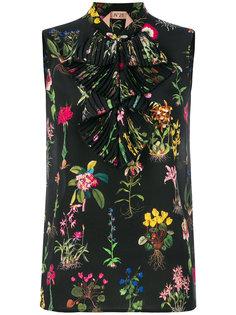 блузка без рукавов с цветочным принтом Nº21
