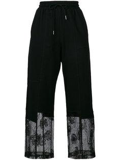 брюки с кружевной отделкой  McQ Alexander McQueen