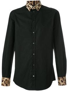 рубашка с воротником с леопардовым узором Dolce & Gabbana