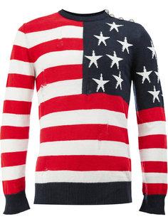 джемпер с флагом США Balmain