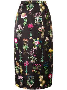 юбка-миди с цветочным принтом Nº21