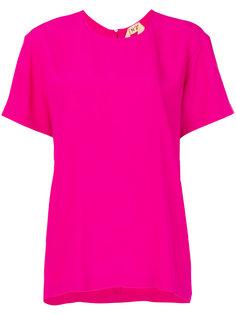 блузка с горловиной на ленточной завязке сзади Nº21