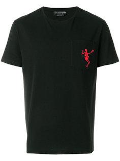 футболка Dancing Skull Alexander McQueen