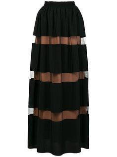 юбка-макси с панелями из тюля Nº21