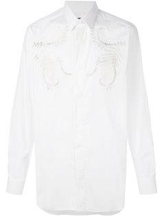 рубашка с вышивкой Roberto Cavalli