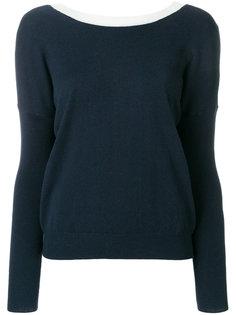 свитер с контрастной отделкой вокруг выреза Essentiel Antwerp