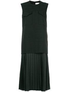 платье-миди с плиссированным подолом Victoria Victoria Beckham