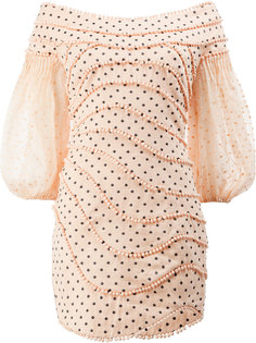 короткое платье в горох Zimmermann