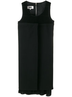 асимметричное плиссированное платье Mm6 Maison Margiela