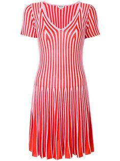 полосатое расклешенное платье Kenzo
