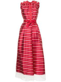 полосатое платье с подолом из тюля Alexis Mabille