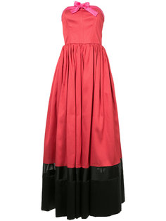 платье без бретелей дизайна колор-блок Alexis Mabille